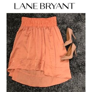 Lane Bryant Peach Asymmetrical Skirt